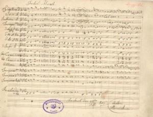 1 - Partitur aus dem Jahr 1846