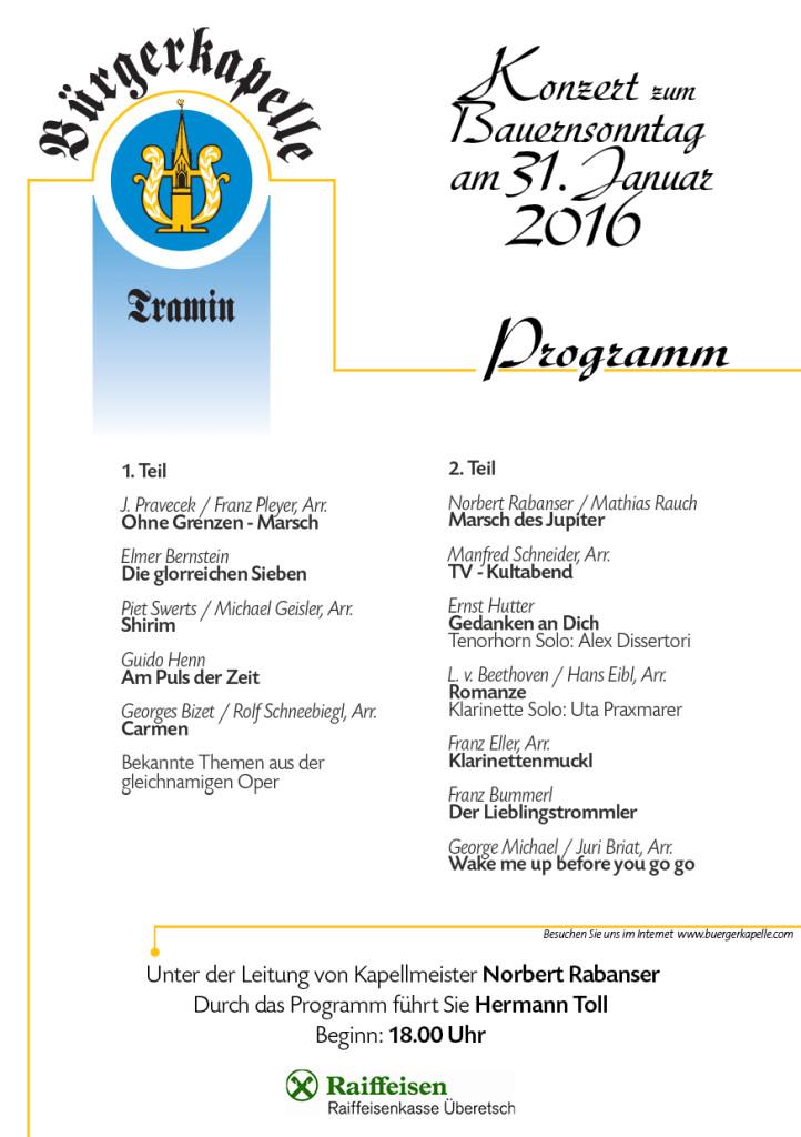 Unser diesjähriges Konzertprogramm